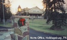 Home Office, Hollidaysburg, PA, early December, 1999